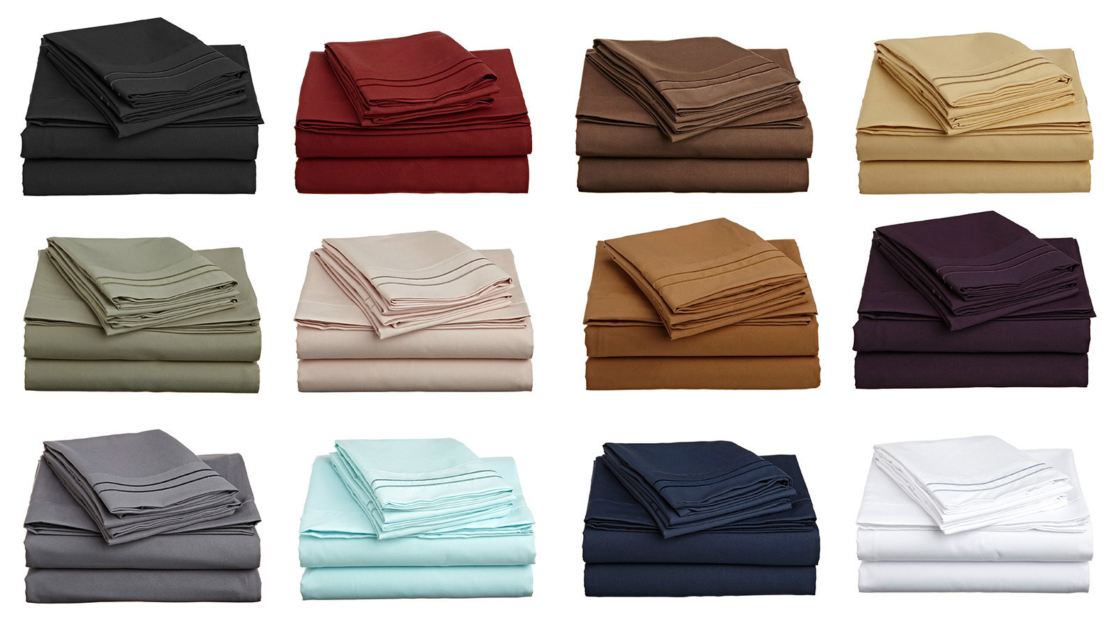 6PC Sheet Set As Soft as Egyptian Cotton 1800 Thread