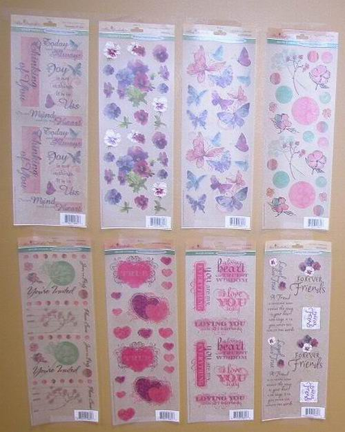 Wholesale Miss Elizabeth Assorted Craft Kit Rub-On Stickers