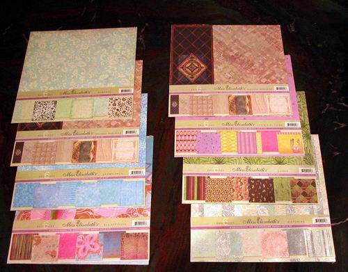 "Assorted Mis Elizabeth 12 Pk/72 Sheet Victorian 12x12"" Scrapbook"