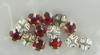Wholesale Lot of 288 pc Red Sew-on Rhinestones